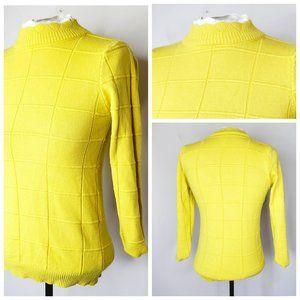 VINTAGE Mustard Yellow Knit Turtle Neck Sweater